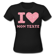 T-Shirt Paillette Rouge