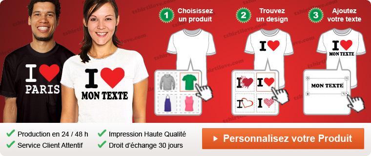 T shirt i love personnalise - T shirt personnalise photo et texte ...